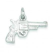 Revolver Charm in Sterling Silver