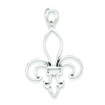 Fleur De Lis Pendant in Sterling Silver