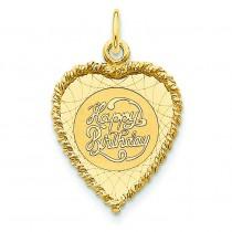 Happy Birthday Charm in 14k Yellow Gold