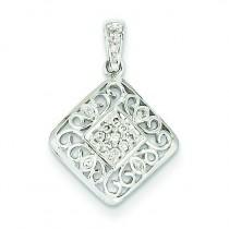 Diamond Pendant in 14k White Gold