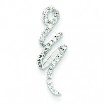 Fancy Diamond Pendant in 14k White Gold