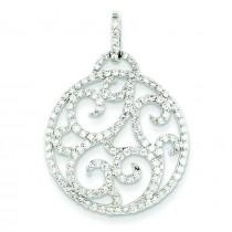 WG Fancy Diamond Pendant in 14k White Gold