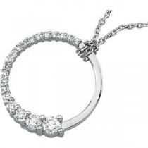 Journey Diamond Pendant in 14k Yellow Gold