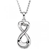 Infinite Love Ash Holder Pendant in Sterling Silver