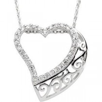 Walking Beside You Pendant Chain in Sterling Silver