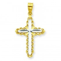 Diamond-Cut Cross Pendant in 10k Yellow Gold