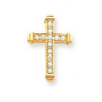 0.132 Ct. Tw. Diamond Latin Cross in 14k Yellow Gold