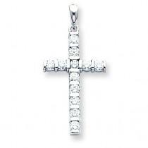 0.708 Ct. Tw. Diamond Latin Cross in 14k White Gold
