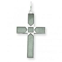 Latin Cross Pendant in 14k White Gold