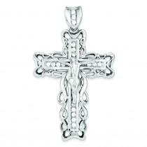 CZ Crucifix Pendant in Sterling Silver