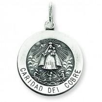 Caridad del Cobre Medal in Sterling Silver