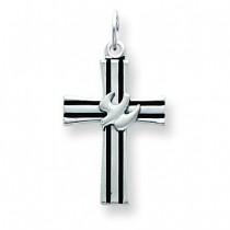 Dove Cross Pendant in Sterling Silver