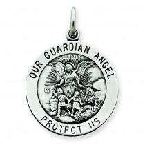 Guardian Angel Medal in Sterling Silver