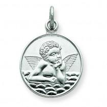Back Angel Medal in Sterling Silver