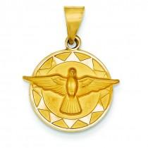 Holy Spirit Medal in 14k Yellow Gold