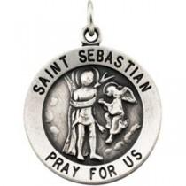 St Sebastian Pendant in Sterling Silver