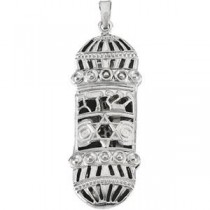 Mezuzah Pendant in Sterling Silver