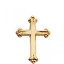 Cross Lapel Pin in 14k Yellow Gold
