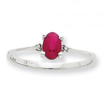 Diamond Ruby Birthstone Ring