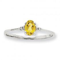 Diamond Peridot Birthstone Ring