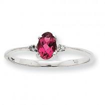 Pink Tourmaline Birthstone Ring