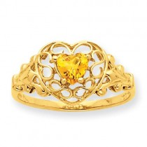 Citrine Birthstone Ring
