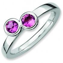 Round Pink Tourmaline Ring