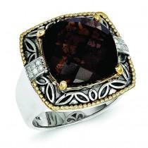 Smokey Quartz 0.2Ct. Diamond Ring