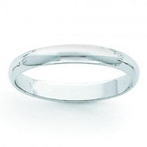 Light Half Round Wedding Band (4.00 mm)
