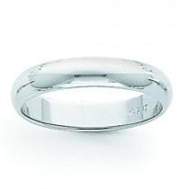 Light Half Round Wedding Band (5.00 mm)