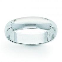 Light Half Round Wedding Band (6.00 mm)