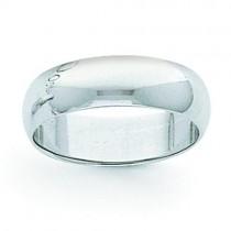 Light Half Round Wedding Band (8.00 mm)