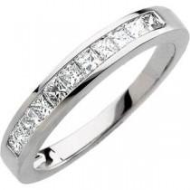 Princess Cut Diamond Anniversary Rings (0.5 Ct. tw.) (0.5 Ct. tw.)