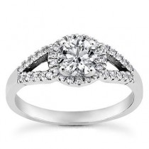 Split Shank Diamond Engagement Ring in 14K Yellow Gold
