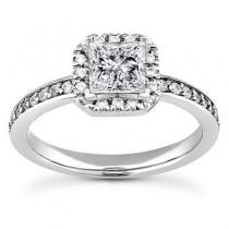 Elegant Princess Cut Wedding Ring in 14K Yellow Gold