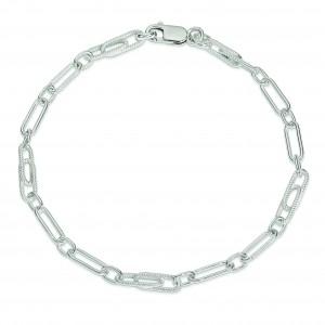 Fancy Link Anklet in Sterling Silver