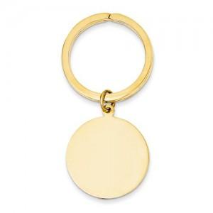 Round High Disc Key Ring
