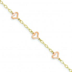 Child Heart Bracelet in 14k Two-tone Gold