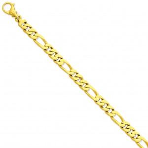 7.7mm Link Bracelet in 14k Yellow Gold