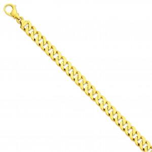 9.75mm Link Bracelet in 14k Yellow Gold