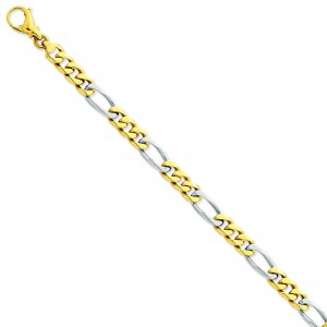7.85mm Link Bracelet in 14k Yellow Gold