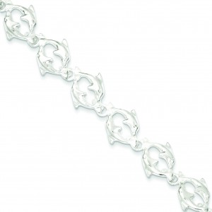Dolphins Bracelet in Sterling Silver