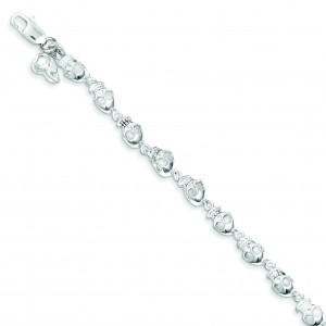 Skull Bracelet in Sterling Silver