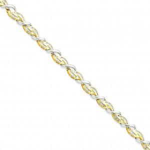 Diamond Bracelet Two Tone Gold in 14k Two-tone Gold