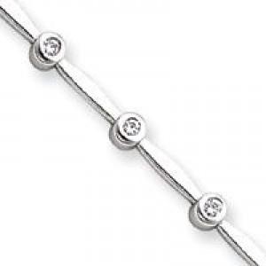 AA Diamond Tennis Bracelet in 14k White Gold