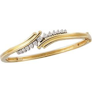 Diamond Bangle Bracelet in 14k Two-tone Gold (0.5 Ct. tw.) (0.5 Ct. tw.)