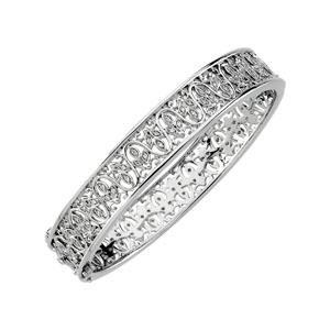 Diamond Bangle Bracelet in 14k White Gold (0.5 Ct. tw.) (0.5 Ct. tw.)