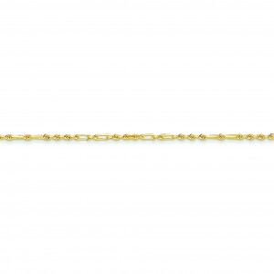 14k Yellow Gold 7 inch 2.00 mm Diamond-cut Milano Rope Chain Bracelet
