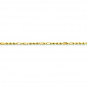 14k Yellow Gold 16 inch 2.25 mm Diamond-cut Milano Rope Choker Necklace