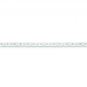 Sterling Silver 7 inch 2.50 mm  Byzantine Chain Bracelet